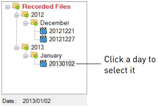 Navigating recorded files