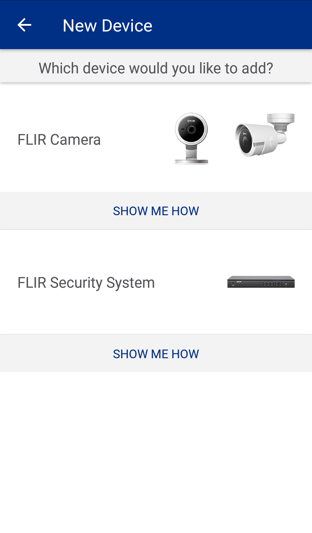 FLIR Secure android - new device