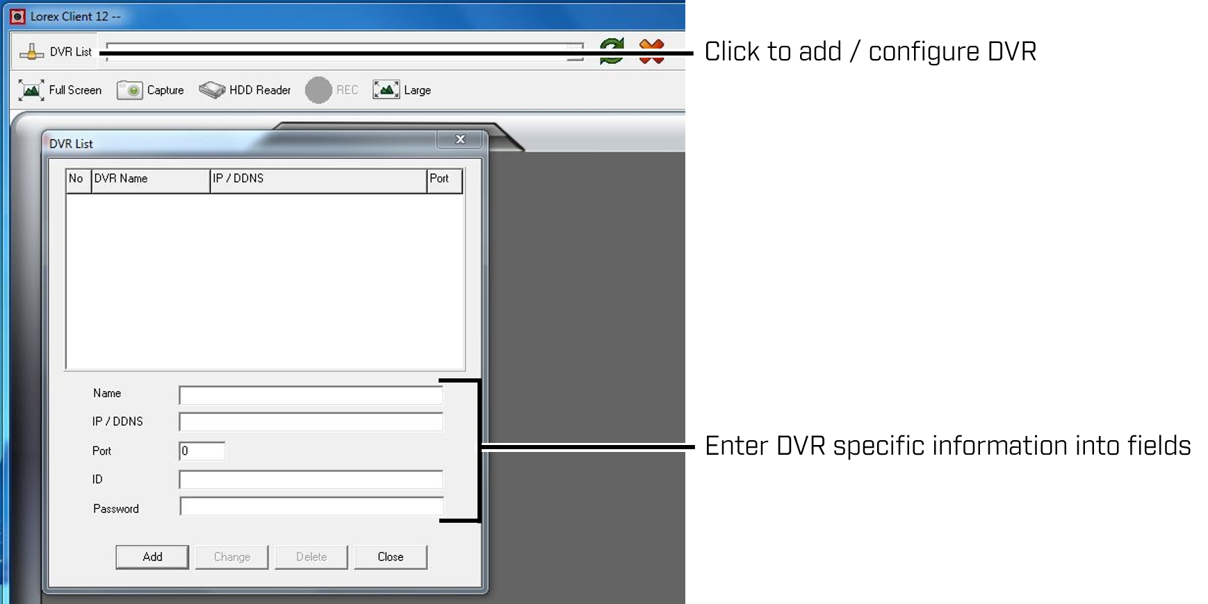 Configuring Lorex Client 12 Software