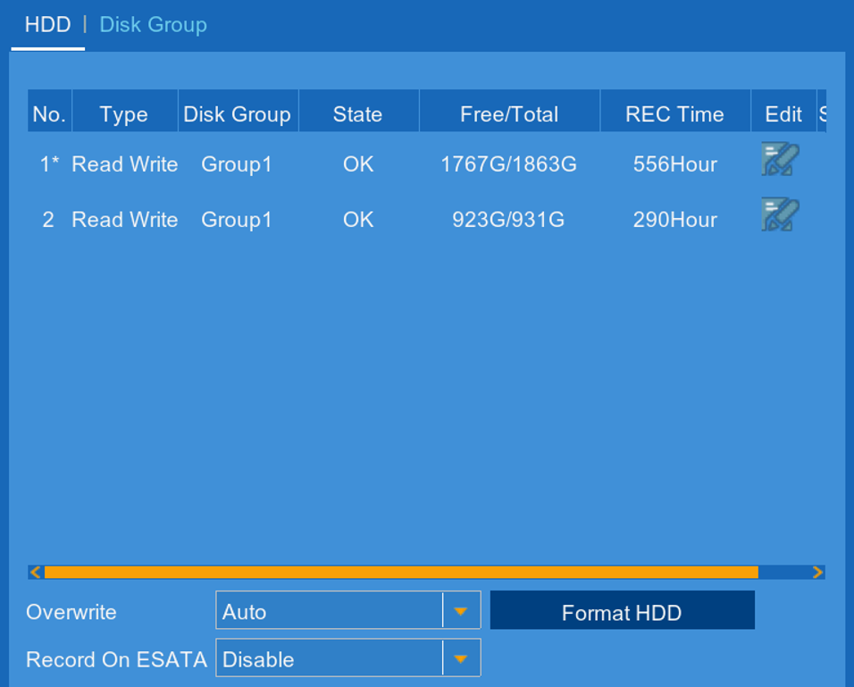 HDD Disk Group