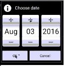 FLIR Cloud App: Choose date