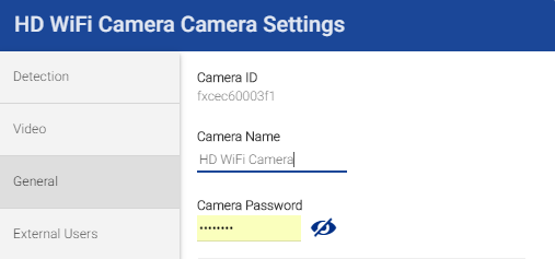 FLIR Secure web portal: Change camera name