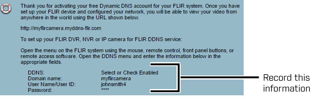 FLIR Website: Configuration Callout