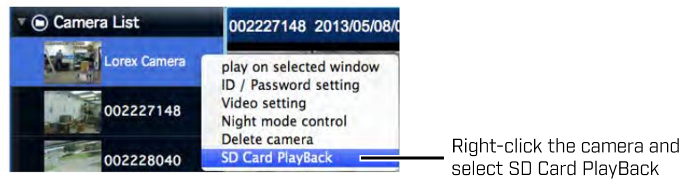 SD card playback