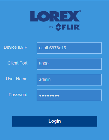 lorex flir client how to delete recorded
